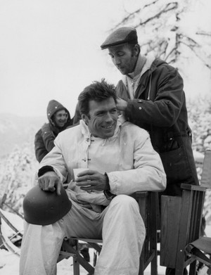 Clint Eastwood on the set of Where Eagles Dare (1968)