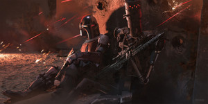 Concept art for The Mandalorian