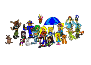 Crash Bandicoot (CTR, CNK CTTR and NF Together) Nitro Fueled