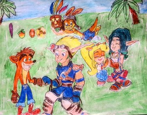 Crash Bandicoot and Jak and Daxter Naughty Dog.