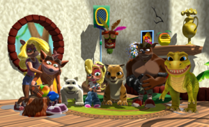 Crash and his Family and Friends MMD