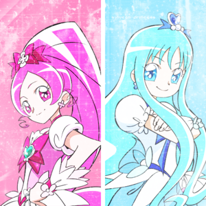 Cure Blossom and Cure Marine