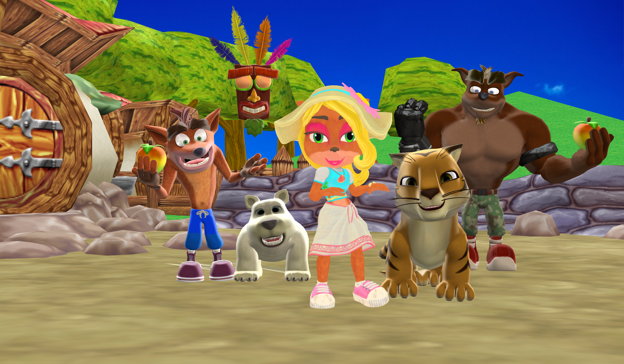 Dancing Bandicoot in with Beach Coco