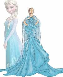 Elsa Inspired design Sketch