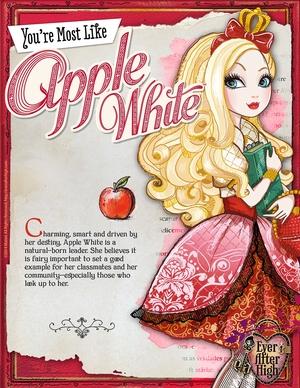 Ever After High - apfel, apple White Poster
