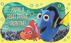 Finding Nemo - Valentine's Day Cards - Marlin and Dory