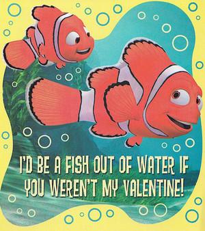 Finding Nemo - Valentine's دن Cards - Nemo and مارلن
