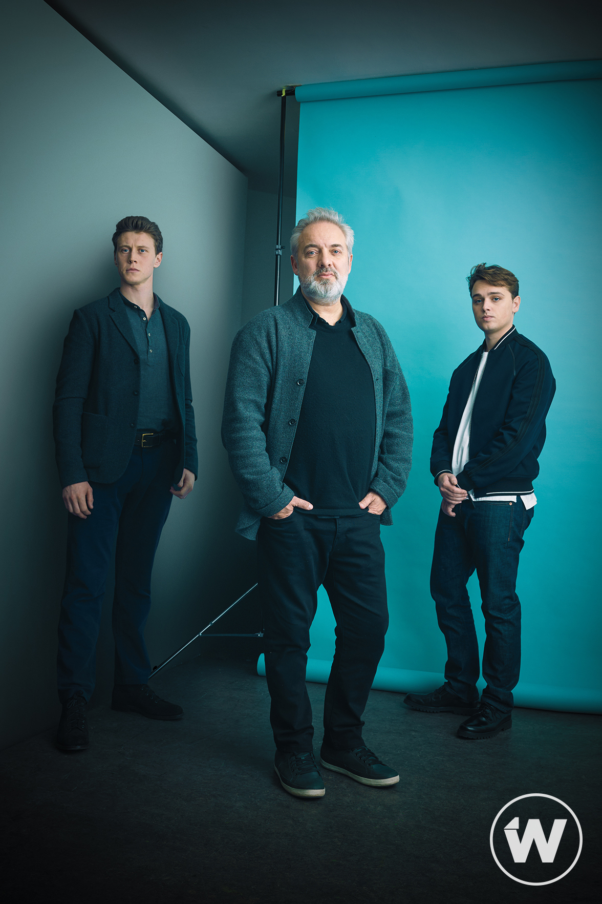 George MacKay, Dean-Charles Chapman and Sam Mendes - The Wrap Photoshoot - 2019