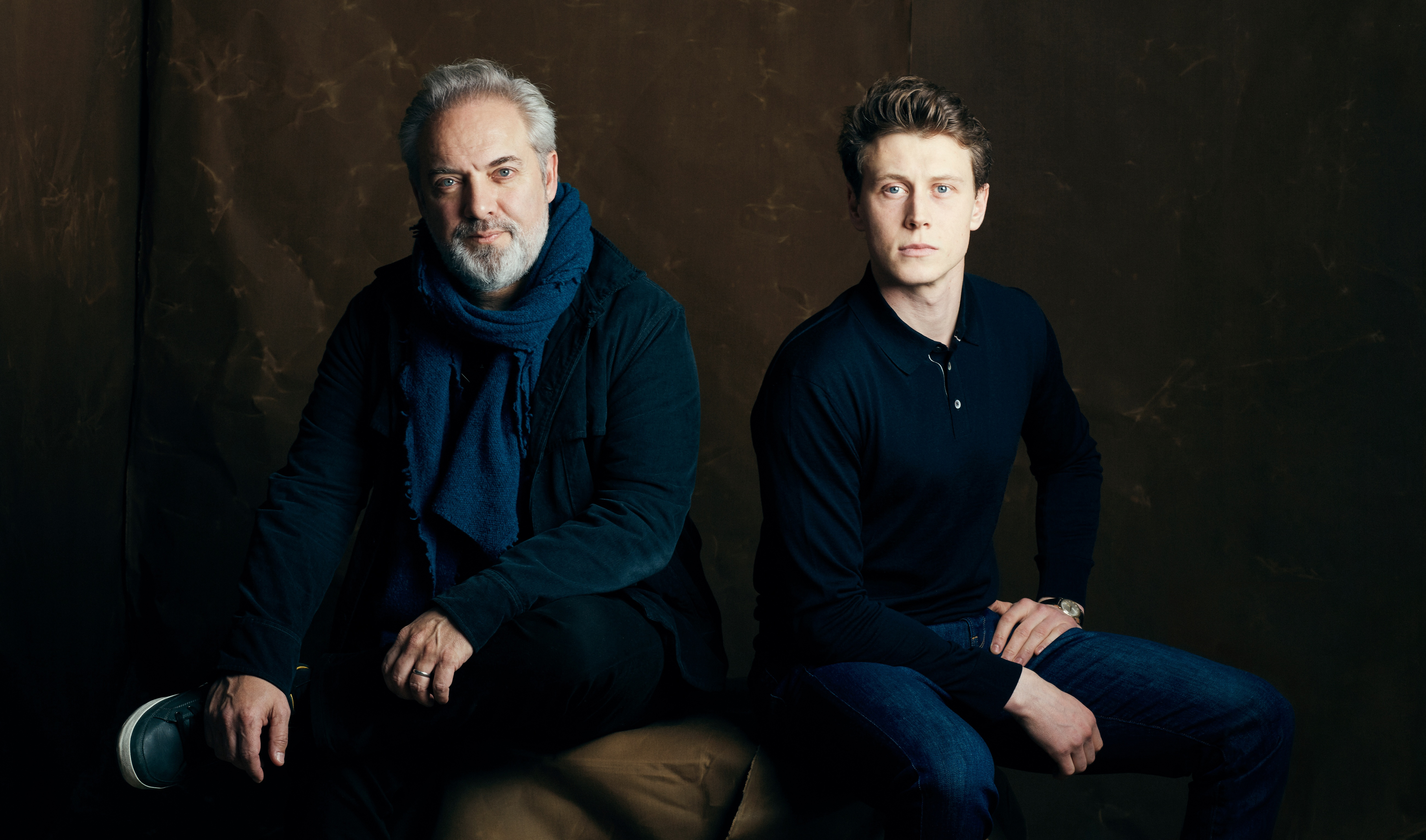 George MacKay and Sam Mendes - Backstage Photoshoot - 2020