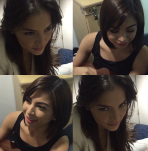Glaiza with Rhian BTS