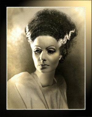 Greta Garbo as Bride of Frankenstein