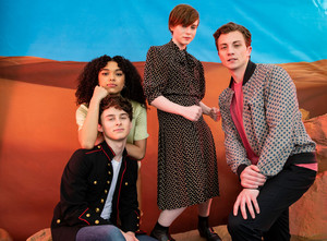 I Am Not Okay With This Cast in Flaunt - Sofia Bryant, Wyatt Oleff, Sophia Lillis and Richard Ellis