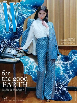 아이유 posing for the covers of W Korea