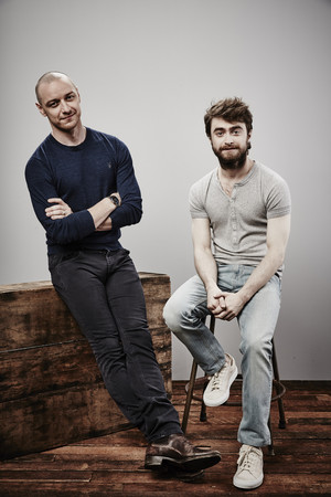 James McAvoy and Daniel Radcliffe - Comic-Con Portraits - 2015