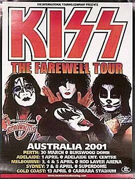 키스 ~Melbourne, Australia...April 4, 2001 (Farewell Tour)