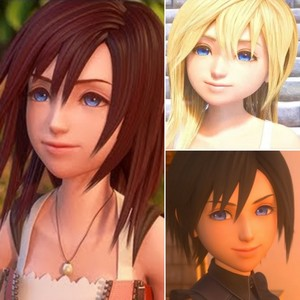 Kairi, Namine, and Xion