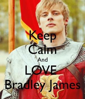 Keep Calm And tình yêu Bradley James 💖