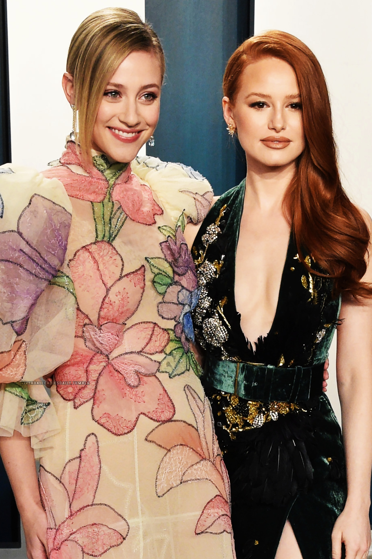 Lili Reinhart and Madelaine Petsch attend the Vanity Fair Oscar Party on February 9th, 2020