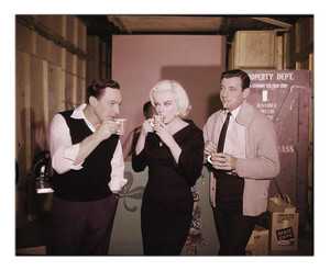"Marilyn Monroe, Gene Kelly, Yves Montand~Set of ""Let's Make Love""~1960"