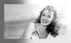 Marilyn Monroe Modeling Striped Bikini