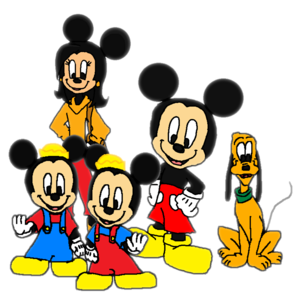 Mickey, Pluto, Felicity, Morty and Ferdie.