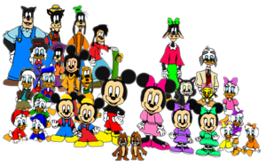 Mickey and his Family and Friends.