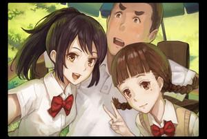 Mitsuha, Sayaka and Tessie