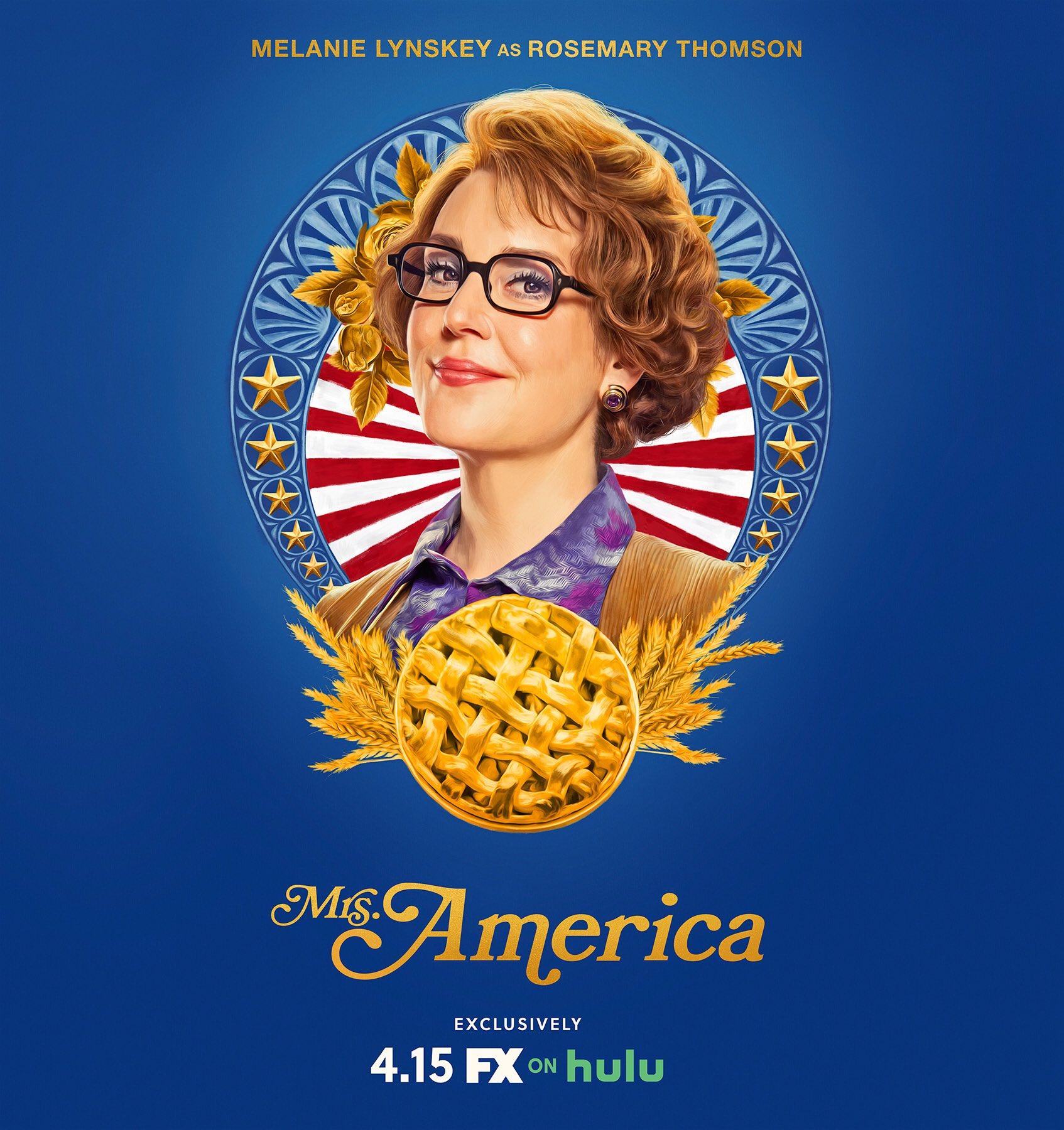 Mrs. America - Season 1 Poster - Melanie Lynskey as Rosemary Thomson