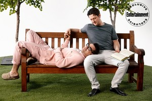 Noah Reid and Dan Levy ~ EW's Rom-Com Photoshoot