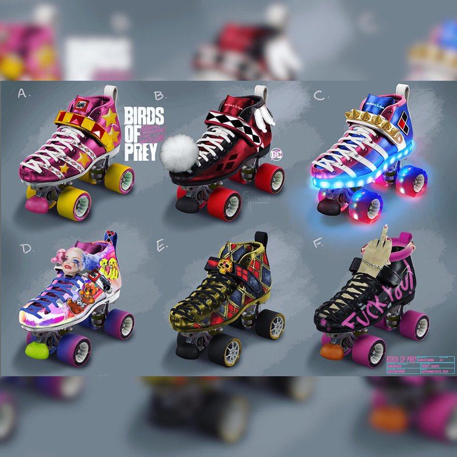 Official 'Birds Of Prey' Concept Art ~ Harley's Derby Skates