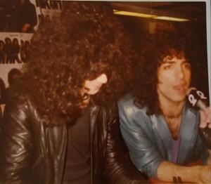 Paul and Eric ~Manhattan, New York...March 3, 1984 (Sam Goody)