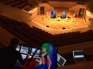 Record producer Allegra and Soundcraft Vi3000 (BerlinPhilharmonic)