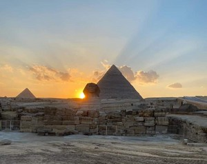 SPHINX PYRAMIDS OF GIZA EGYPT