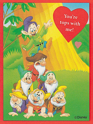Snow White - Valentine's Day Cards - The Seven Dwarfs