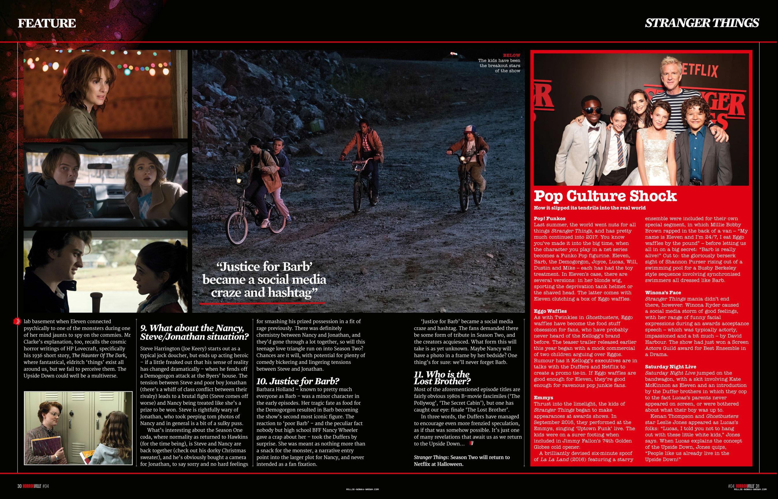 Stranger Things in Horrorville Magazine - 2017 [5]