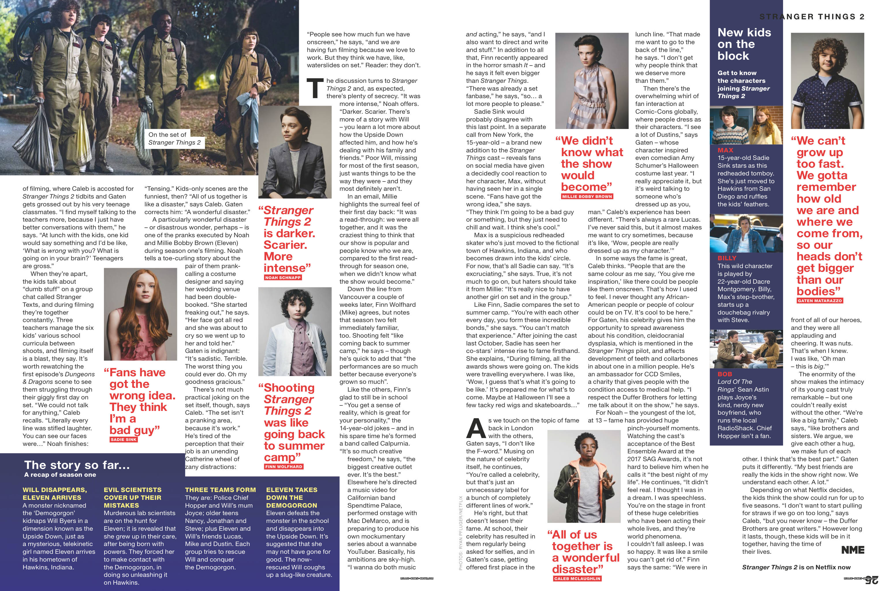 Stranger Things in NME Magazine - 2017 [2]