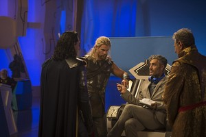 Taika Waititi behind the scenes of Thor: Ragnarok