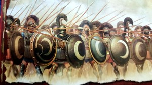 The 700 Thespians phalanx at the Thermopylae battle