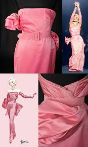 The Iconic Pink Dress 1953 Film, Gentleman Prefer Blondes