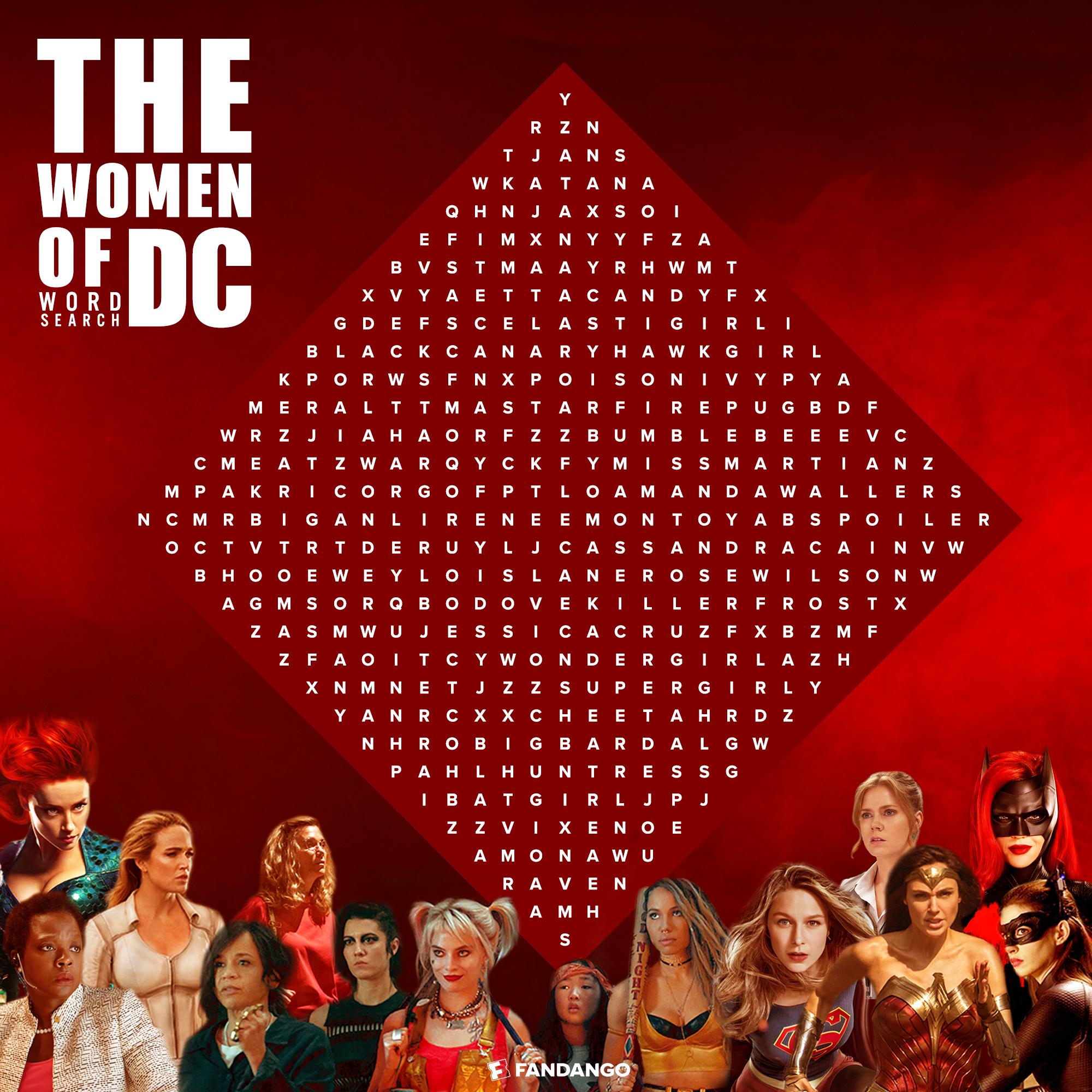 The Women of DC:  Word Search by Fandango