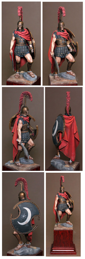 Thespian hoplite, 75mm, Romeo mga model