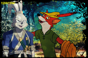 Usagi Yojimbo and Robin kap, hood