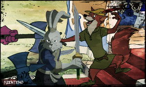 Usagi and Robin Hood Fighting