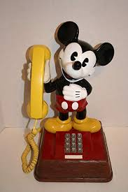 Vintage Mickey Mouse Touch Tone Phone