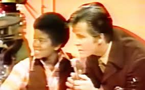 Young Michael Talking With Dick Clark
