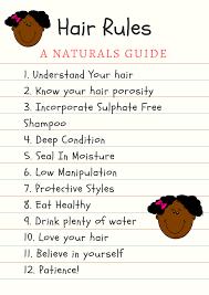 Hair Rules A Natural Hair Guide