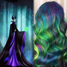 Maleficent Inspired Hair Color