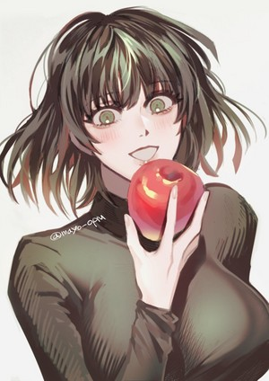fubuki with mela, apple