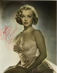 Autographed foto Of Marilyn Monroe
