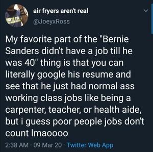 Bernie's Work History